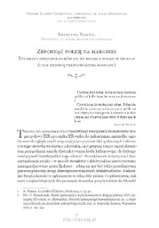Zepchnąć poezję na margines. Dylematy epikurejczyków co do miejsca poezji w świecie (i ich dziewiętnastowieczne pogłosy)