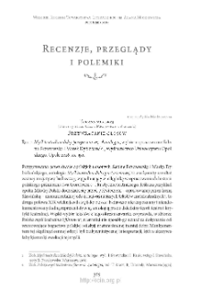 """Przywracanie głosów. Rec.: """"Myśl teatralna doby postyczniowej. Antologia"""", wybór i opracowanie Sabina Brzozowska i Marek Dybizbański, Opole 2016"""