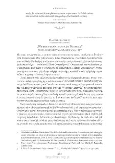 """""""Wykołysana wodami Niemna"""". Eliza Orzeszkowa Stanisława Fity"""