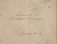 Lenora : ballada Bürgera
