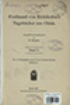 Ferdinand von Richthofen's Tagebücher aus China. Bd. 1