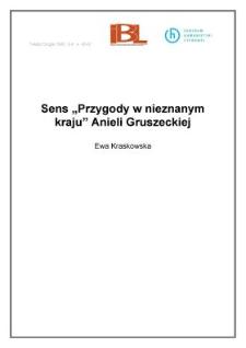 """Sens """"Przygody w nieznanym kraju"""" Anieli Gruszeckiej"""