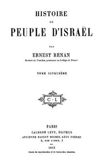 Histoire du peuple d'Israël. T. 5