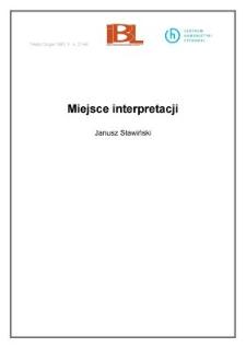 Miejsce interpretacji