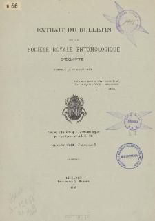 Die mir bekannten Anthidium-Arten Aegypten's: (Hymenoptera-Apoidea)