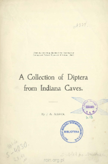 A collection of diptera from Indiana Caves