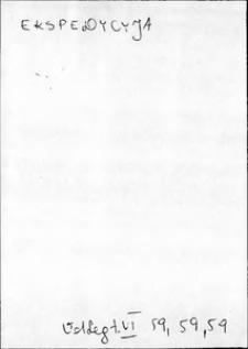 Kartoteka Słownika języka polskiego XVII i 1. połowy XVIII wieku; Ekspedycja - Emundować się
