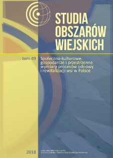 Rozwój obszarów wiejskich w oparciu o ideę tworzenia wiosek tematycznych = Development of rural areas based on the idea of creating thematic villages