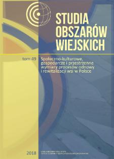 Wioski tematyczne w procesie odnowy wsi pomorskich = Thematic villages in the rural renewal process of Pomerania