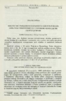 Badania nad zasięgiem przestrzennym zgrupowań nicieni (Nematoda) perifitonowych i czynnikami regulującymi ich występowanie