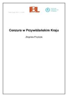 Cenzura w Przywiślańskim Kraju