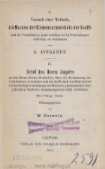 Die Grundlagen der Molekulartheorie. Abhandlungen : (1811 u. 1814)