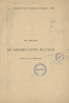 Die Dipteren-Gruppe Milichinae