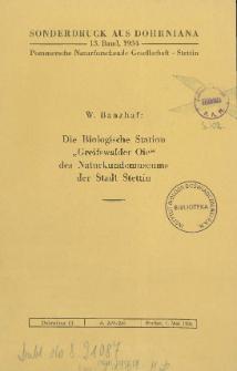 Die Biologische Station Greifswalder Oie des Naturkundemuseums der Stadt Stettin