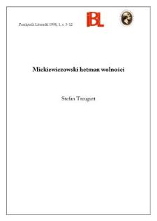 Mickiewiczowski hetman wolności
