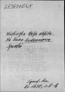 Kartoteka Słownika języka polskiego XVII i 1. połowy XVIII wieku; Gedeonowy - Gęba