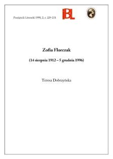 Zofia Florczak (14 sierpnia 1912 - 5 grudnia 1996)