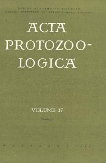 Acta Protozoologica, Vol. 17, Nr 1