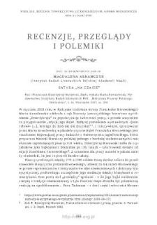 """Satyra """"na czasie"""". Rec.: Franciszek Dzierżykraj-Morawski, Bajki, Warszawa 2017"""