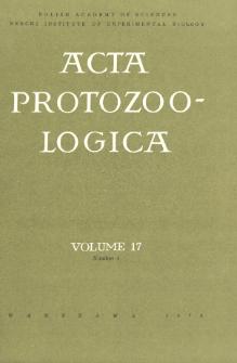 Acta Protozoologica, Vol. 17, Nr 4