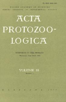 Acta Protozoologica, Vol. 18, Nr 1, Symposium on Cell Motility, Warszawa, June 26-28, 1978