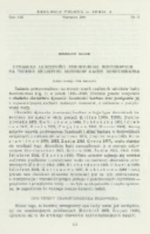 Dynamika liczebności Tendipedidae bentosowych na terenie mulistych odcinków łachy Konfederatka