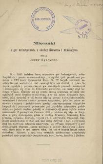 Mięczaki z gór drohobyckich, z okolicy Żórawna i Mikołajowa