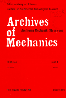 Archives of Mechanics Vol. 44 nr 4 (1992)