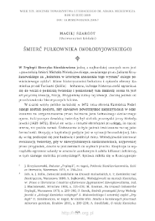 Śmierć pułkownika (Wołodyjowskiego)