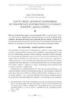 Lud w lekcji Antoniny Domańskiej (w powieściach historycznych o czasach Piastów i Jagiellonów)