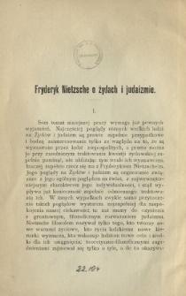Fryderyk Nietzsche o Żydach i judaiźmie