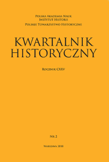 Kwartalnik Historyczny R.125 nr 2 (2018), Title pages, Contents
