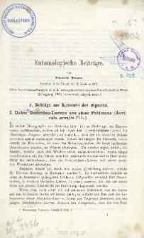 Entomologische Beiträge