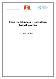 Eros i sublimacja u Jarosława Iwaszkiewicza
