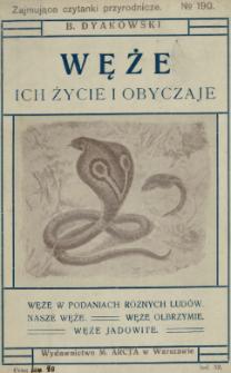 Węże : ich życie i obyczaje