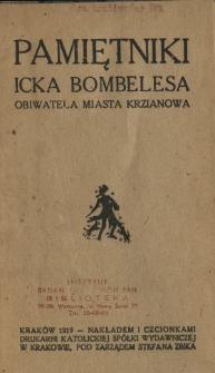 Pamiętniki Icka Bombelesa, obiwatela miasta Krzianowa