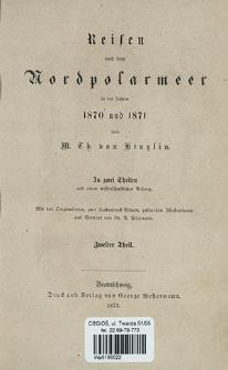 Reise nach Novaja Semlja und Waigatsch im Jahre 1871 : unternommen mit der Rosenthal'schen Expedition