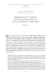 Barwne ok(n)o w listach Stanisława Wyspiańskiego do Lucjana Rydla z 1890 roku