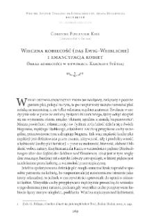 Wieczna kobiecość (das Ewig-Weibliche) i emancypacja kobiet. Obraz kobiecości w utworach Karoliny Světlej