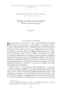 """Jeden autor, kilka wersji. Wokół """"Sabałowej bajki"""""""
