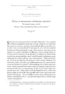 Żona w biografii twórczej artysty. Na marginesie listów Marii z Szetkiewiczów Sienkiewiczowej