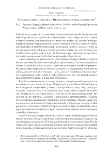 """Biograficzne okruchy i Sienkiewiczowskie """"śledztwa"""". Rec.: Krzysztof Stępnik, Henryk Sienkiewicz. Studia z mikrobiografiki prasowej, Lublin2016"""