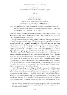 Opowieść o chłopcu z Szymborza. Rec.: Mirosław Sosnowski, Jan Kasprowicz. Opowieść biograficzna. Część pierwsza: Chłopska sukmana (1860–1889), Zakopane 2015