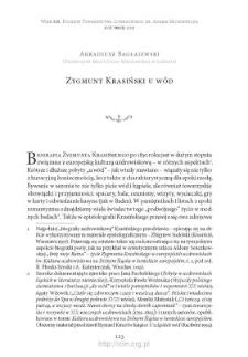Zygmunt Krasiński u wód