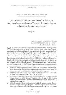 """""""Widnokrąg sprawy polskiej"""" w świetle wykładów bolońskich Teofila Lenartowicza i Stefana Buszczyńskiego"""