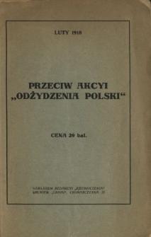 """Przeciw akcyi """"odżydzenia Polski"""""""