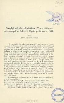 Przegląd podrodziny Złotooków (Hemerobiinae) odszukanych w Galicyi i Śląsku po koniec r. 1904