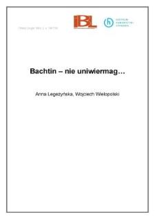Bachtin - nie uniwiermag...