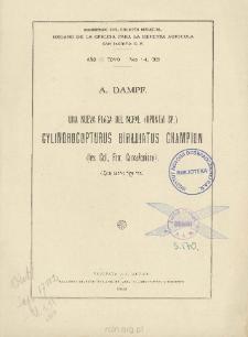 Una nueva plaga del Nopal (Opuntia Sp.) Cylindrocopturus Biradiatus Champion (Ins. Col., Fam. Curculionidae)