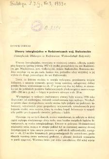 Utwory interglacjalne w Rudziewiczach woj. Białostockie